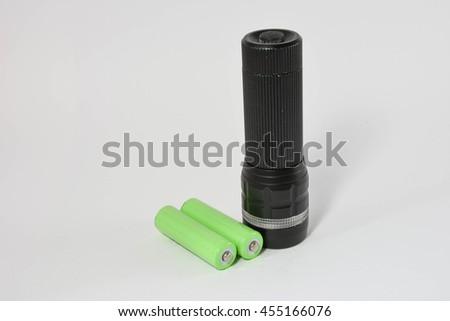 Flashlight, isolated on white background - stock photo