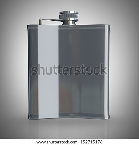 flask. High resolution 3d render  - stock photo