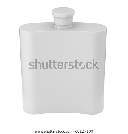 Flask isolated on white