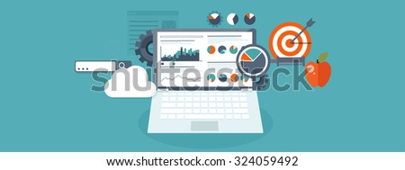 Flat background. Coding and programming. SEO. Search engine optimization. App development and creation. Software and program code. Web design. - stock photo