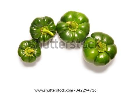 flat bell pepper  - stock photo