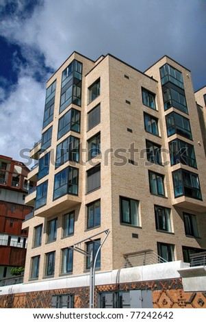 flat blocks building - stock photo