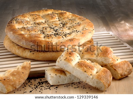 flat bread - stock photo