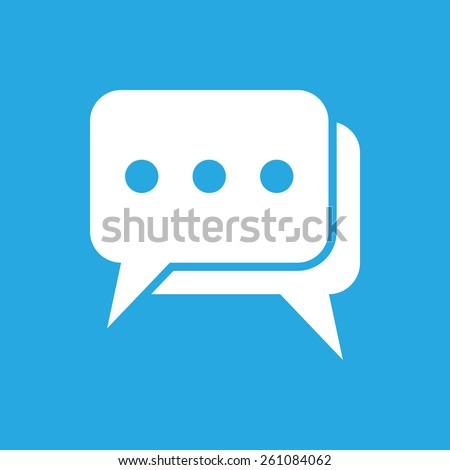 flat chat icon - stock photo