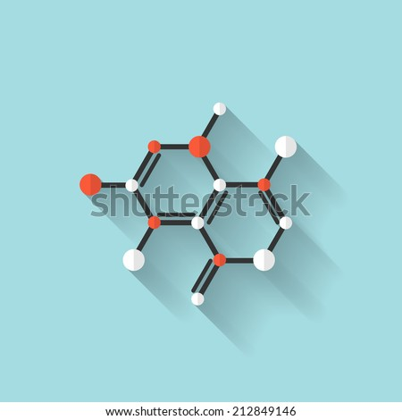 Flat dna icon. Chemical formula symbol. Health care. - stock photo