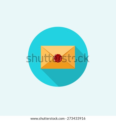 Flat envelope. Emailing and global communication. Letter. Social network. - stock photo