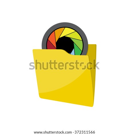 Flat folder icon - Computing - Data and information