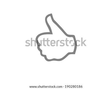 Flat icon of ok - stock photo
