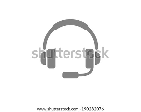 Flat icon of support - stock photo