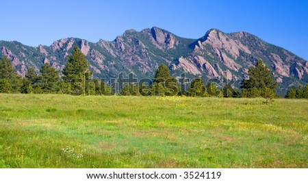 Flat Iron Vista Boulder Colorado - stock photo