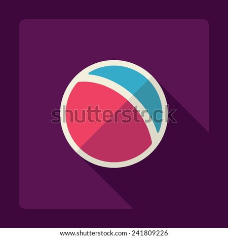 Flat modern design with shadow ball - stock photo