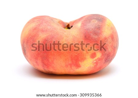 flat peach  - stock photo
