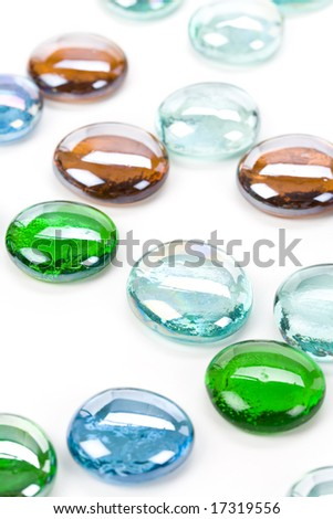 Flat Round Crystal Glass Beads