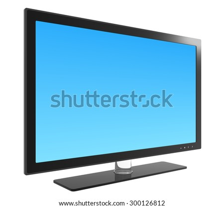 Flat screen television , blank screen. - stock photo