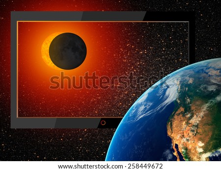 """Flat screen tv - the actual image """"Elements of this image furnished by NASA """"  - stock photo"""