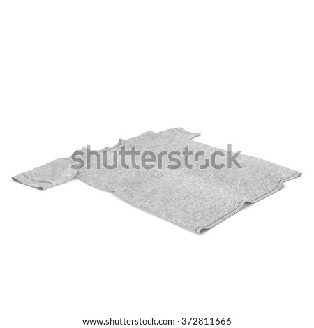 Flat T-Shirt on White Background