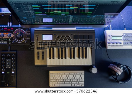Work Place System Control Room Selective Stock Photo