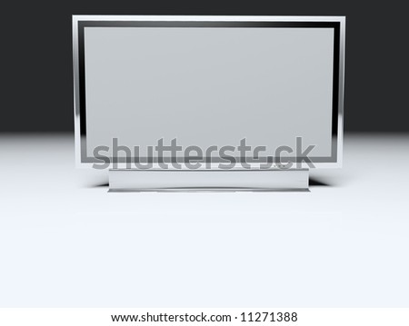 Flat TV screen - Television concept - Illustration Flat tv