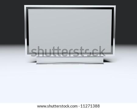 Flat TV screen - Television concept - Illustration Flat tv - stock photo