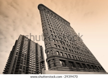 Flatiron Building - Manhattan - New York - sepia