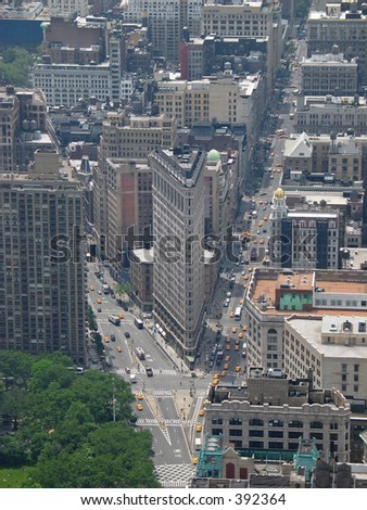 Flatiron from Empire State Building - stock photo
