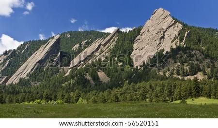 Flatirons Boulder Colorado - stock photo
