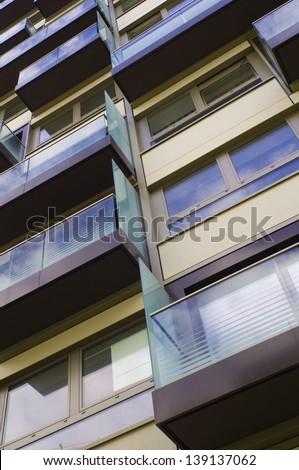 Flats with Balcony - stock photo