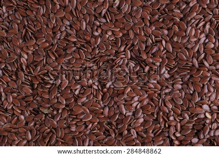 flax seed closeup  - stock photo