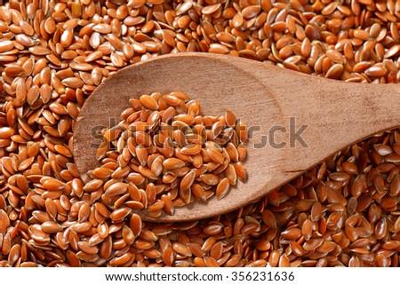 Flax seeds - stock photo