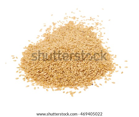 flaxseed isolated on white background close up