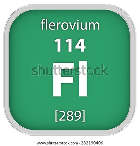 Flerovium material on the periodic table. Part of a series. - stock photo