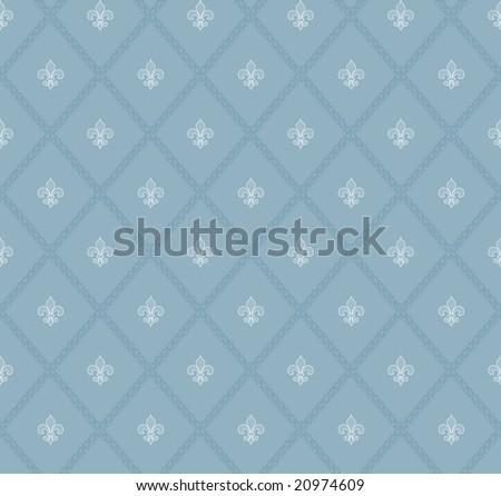 fleur-de-lis seamless pattern - stock photo