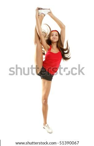 Flexible Gymnastic Pose