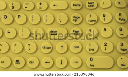 Flexible rubber silicone computer keyboard keypad isolated on white background - stock photo