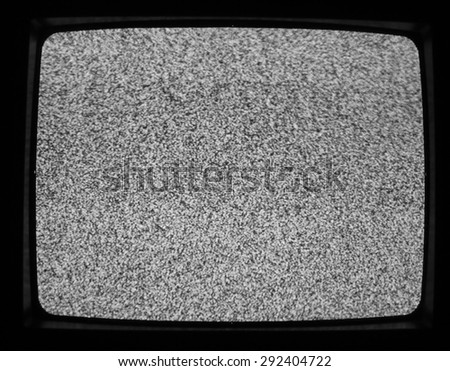 Flickering screen in a detuned TV useful as a background - stock photo