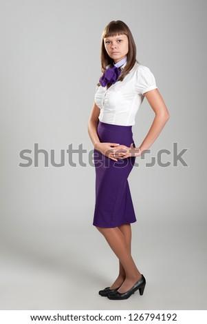 flight attendants - stock photo