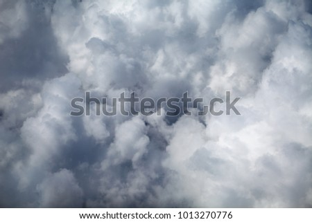 flight inside the fluffy clouds