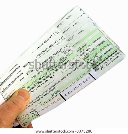 Flight Tickets to USA a topical photograph - stock photo