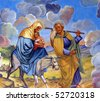 Flight to Egypt - stock photo