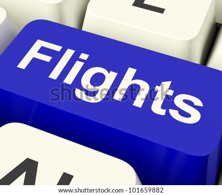 Flights Key In Blue For Overseas Vacation Or Holidays