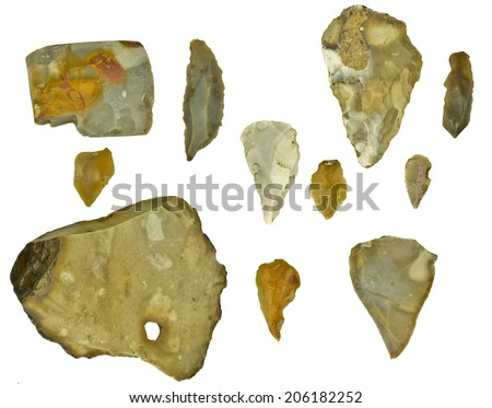 flintstones isolated - stock photo