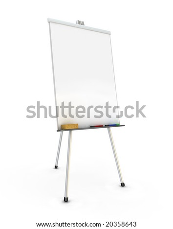 Flip chart. 3D generated image. - stock photo