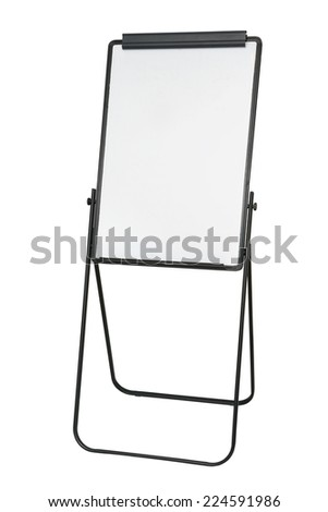 flip chart isolated on white background - stock photo