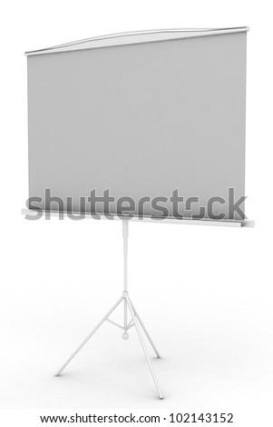 Flip chart on white background - stock photo