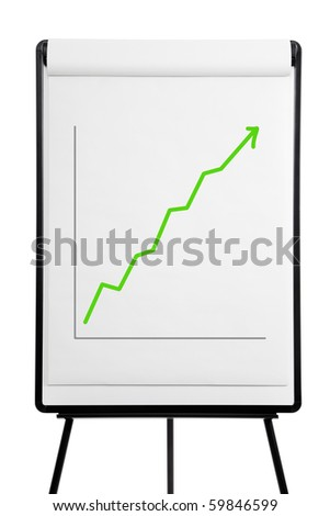 Flip chart - performance up - stock photo