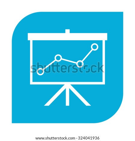 Flip-chart, projection screen with a graph. - stock photo