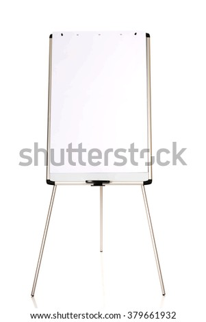 Flip chart standing on the floor - stock photo