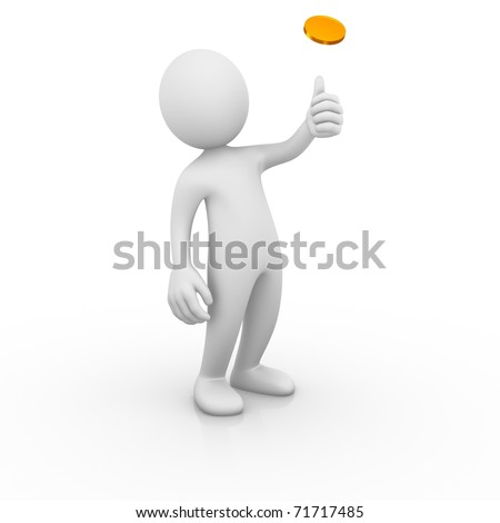Flip coin - stock photo