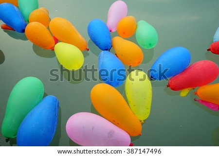 Floating balloons water