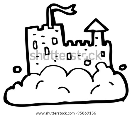 floating castle cartoon